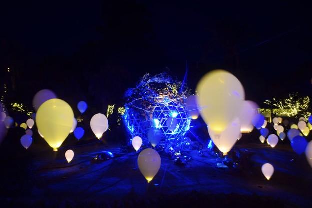 バルーンアートとミラーボールアート #湘南 #藤沢 #海 #surfing #江ノ島 #イルミネーション #art #illumination