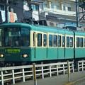 腰越駅に向かう江ノ電 #湘南 #鎌倉 #kamakura #寺 #temple #train #江ノ電