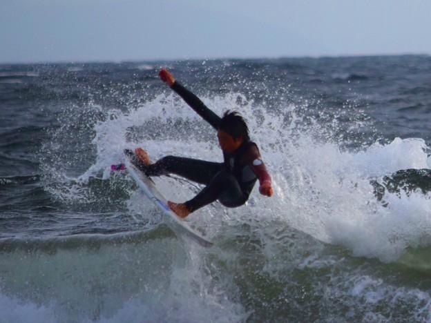 やや強いオンショアの湘南・鵠沼海岸 #湘南 #藤沢 #海 #波 #wave #surfing #mysky
