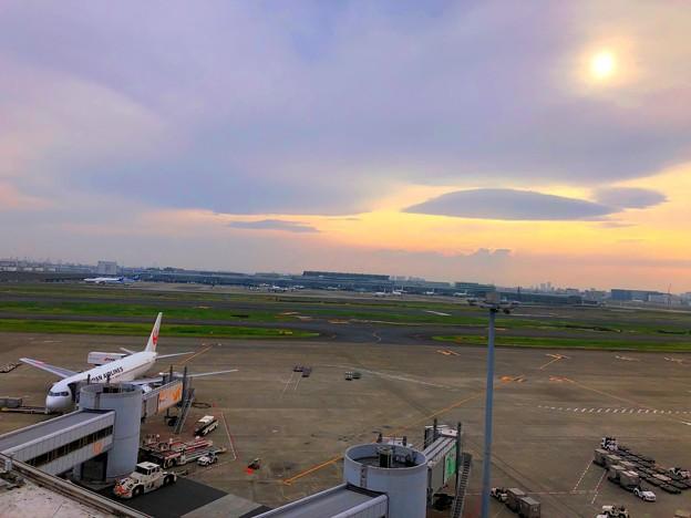 夕方の羽田空港 #東京 #東京国際空港 #羽田空港 #airport #hnd #tokyointernationalairport
