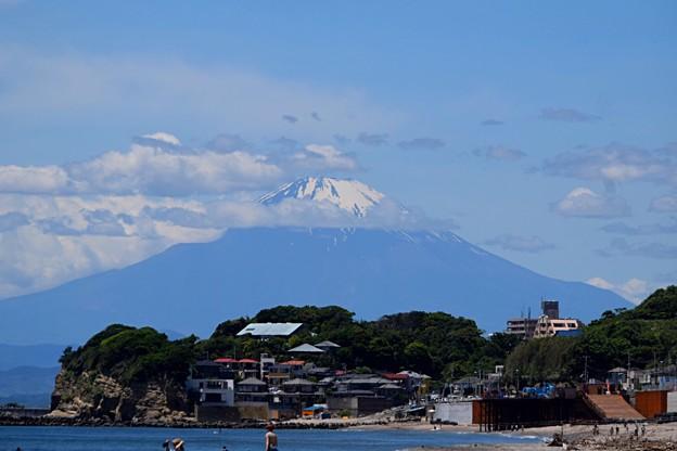 七里ヶ浜からの富士山 #鎌倉 #kamakura #海 #波 #wave #mysky #surfing #富士山 #mtfuji #fujisan