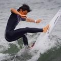 写真: 夕方の湘南・鵠沼海岸の波はひざサイズ #湘南 #藤沢 #海 #波 #wave #surfing #mysky #beach