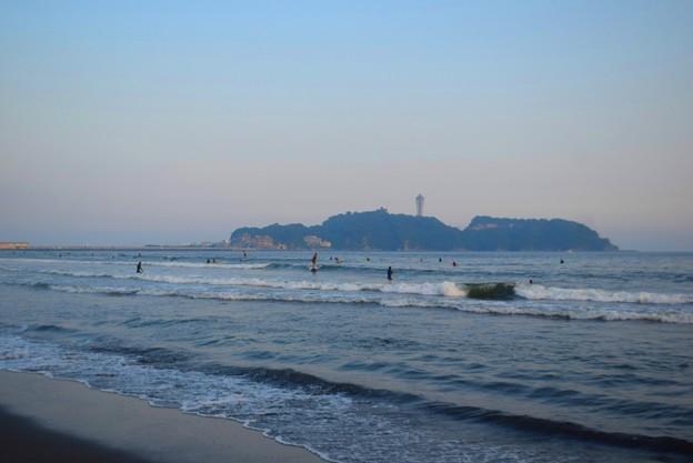 日没間際の江ノ島 #湘南 #藤沢 #海 #波 #wave #surfing #mysky #beach