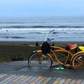 写真: 雨が降ったり止んだりの湘南・鵠沼海岸 #湘南 #藤沢 #海 #波 #wave #surfing #mysky #beach