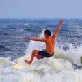 夕方の湘南・鵠沼海岸の波は腰から腹サイズ #湘南 #藤沢 #海 #波 #wave #surfing #mysky #beach