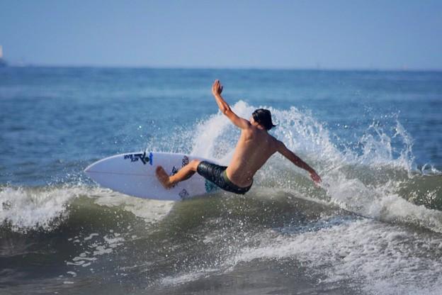 台風のうねりがきている湘南・鵠沼海岸 #湘南 #藤沢 #海 #波 #wave #surfing #mysky #beach