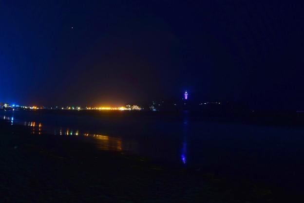 夜の江ノ島 #湘南 #藤沢 #海 #波 #nightview #夜景 #surfing #mysky #beach
