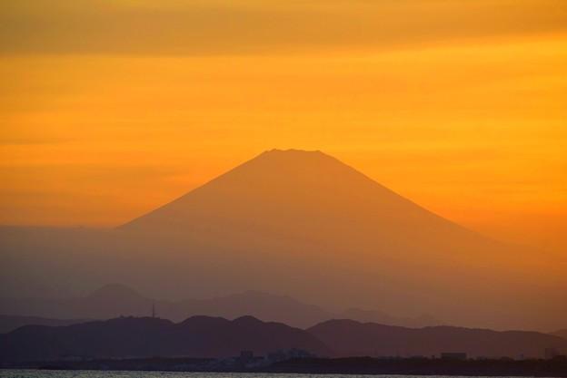 紅富士@湘南・鵠沼海岸 #湘南 #藤沢 #海 #波 #wave #surfing #mysky #fujisan #mtfuji #富士山