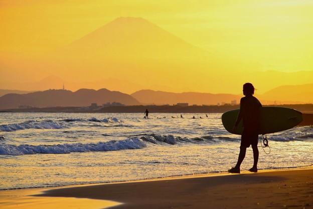 富士山とサーファー #湘南 #藤沢 #海 #波 #wave #surfing #mysky #fujisan #mtfuji #富士山