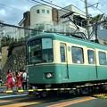 江ノ電・鎌倉高校前踏切 #鎌倉 #kamakura #湘南 #江ノ電 #train #mysky