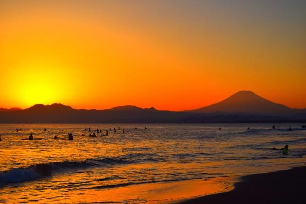 日没後の富士山  #湘南 #藤沢 #海 #波 #wave #surfing #mysky #fujisan #mtfuji #富士山