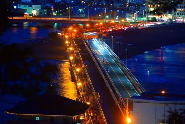 江ノ島大橋 #湘南 #藤沢 #海 #波 #wave #江ノ島 #mysky #beach #enoshima #夜景 #nightview