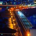 Photos: 江ノ島大橋 #湘南 #藤沢 #海 #波 #wave #江ノ島 #mysky #beach #enoshima #夜景 #nightview