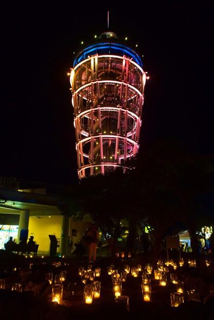 江ノ島シーキャンドルとキャンドルの灯り  #湘南 #藤沢 #海 #波 #wave #江ノ島 #mysky #enoshima #夜景 #nightview