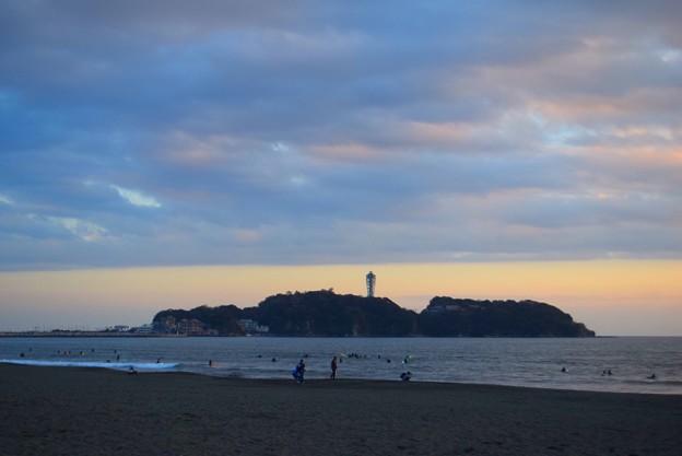 夕方の江ノ島 #湘南 #海 #波 #beach #surfinng #サーフィン #wave #mysky