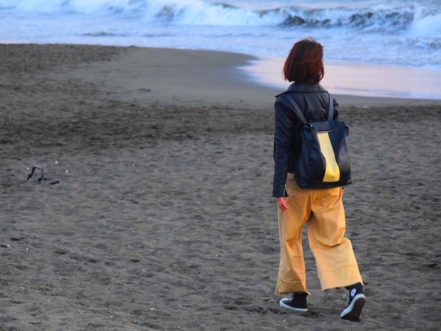 夕方の湘南・鵠沼海岸 #湘南 #海 #波 #beach #surfinng #サーフィン #wave #mysky