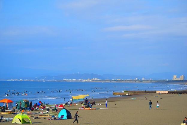 富士山は雲隠れの湘南・鵠沼海岸 #湘南 #藤沢 #海 #波 #wave #surfing #beach #mysky