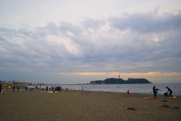 夕方の江ノ島 #湘南 #藤沢 #海 #波 #wave #surfing #surf #beach #mysky