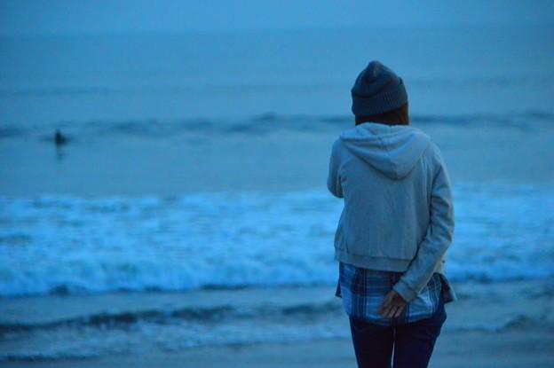 夕闇迫る・湘南・鵠沼海岸 #湘南 #藤沢 #海 #波 #wave #surfing #mysky #beach