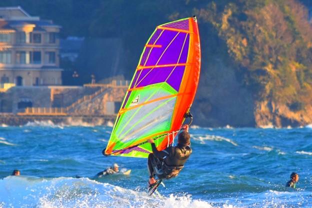 湘南・鵠沼海岸のウインドサーファー #湘南 #藤沢 #海 #波 #wave #surfing #mysky #windsurfing #ウインドサーフィン