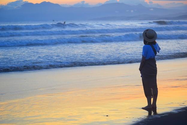 暮れゆく湘南・鵠沼海岸 #湘南 #藤沢 #海 #波 #wave #surfing #mysky #sea #beach