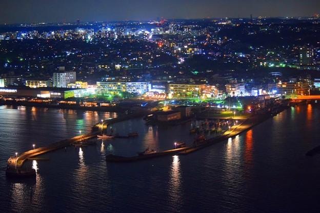 片瀬港の夜景 #湘南 #藤沢 #海 #江ノ島 #wave #灯篭 #sea #夜景 #nightview #enoshima