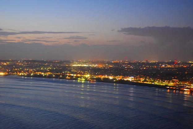 片瀬西浜・鵠沼海岸の夜景 #湘南 #藤沢 #海 #江ノ島 #wave #灯篭 #sea #夜景 #nightview #enoshima