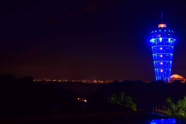 相模湾を照らすシーキャンドル #湘南 #藤沢 #海 #江ノ島 #wave #灯篭 #sea #夜景 #nightview #enoshima