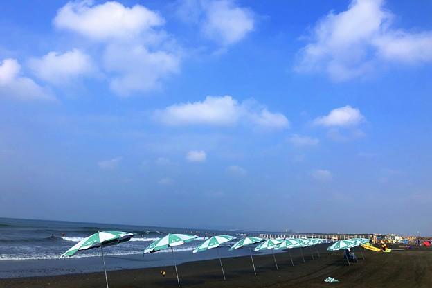 湘南・鵠沼海岸朝景 #湘南 #藤沢 #海 #波 #wave #surfing #sea #beach #mysky #サーフィン
