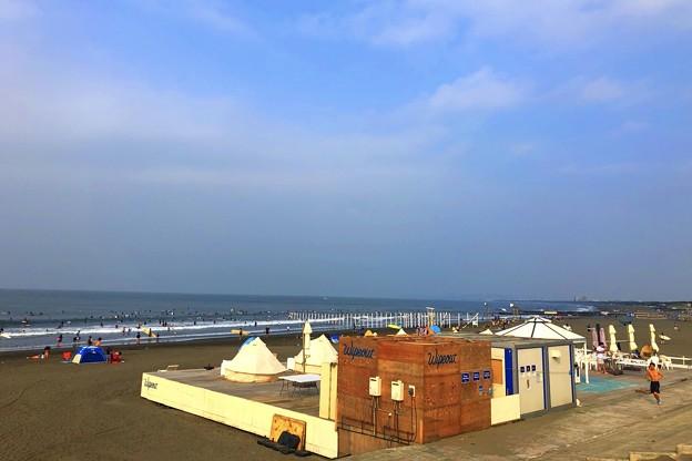 青空広がる湘南・鵠沼海岸 #湘南 #藤沢 #海 #波 #wave #surfing #sea #beach #mysky #サーフィン