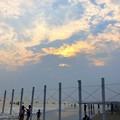 Photos: 雲に沈む湘南・鵠沼海岸の夕日 #湘南 #藤沢 #海 #波 #wave #surfing #サーフィン #mysky #sea #beach