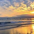 湘南・鵠沼海岸の夕日 #湘南 #藤沢 #海 #波 #wave #surfing #mysky #sea #beach