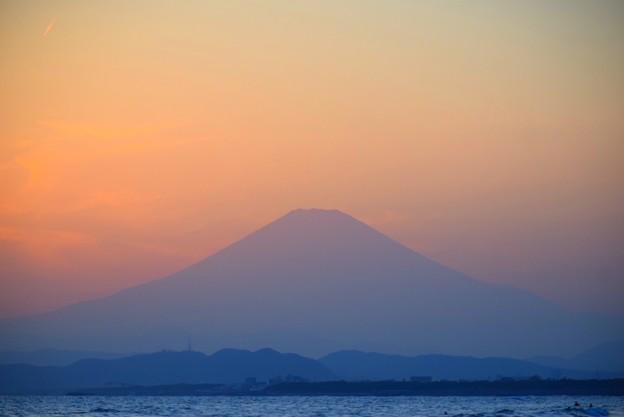 湘南・鵠沼海岸からの富士山 #湘南 #海 #波 #wave #surfing #サーフィン #sea #mtfuji #fujisan #富士山