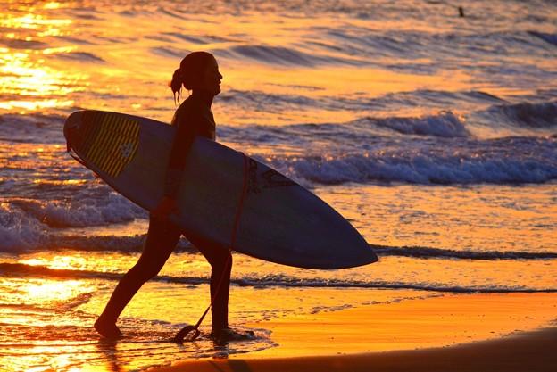 湘南・鵠沼海岸夕景 #湘南 #海 #波 #wave #surfing #サーフィン #sea #サーファー #beach