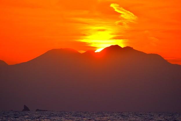 日没の瞬間@湘南・鵠沼海岸 #湘南 #海 #波 #wave #surfing #サーフィン #sea #mysky #sky