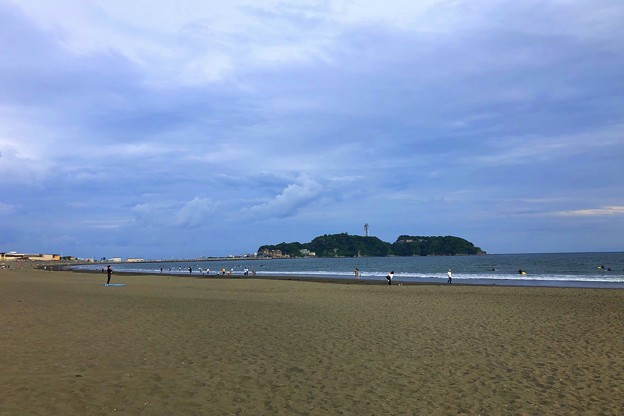 夕方の江ノ島 #湘南 #藤沢 #海 #波 #wave #surfing #sea #beach