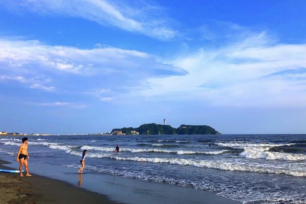 夕方の江ノ島 #湘南 #藤沢 #海 #波 #wave #surfing #sea #サーフィン