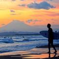 Photos: 富士山とサーファー@湘南・鵠沼海岸 #湘南 #藤沢 #海 #波 #wave #surfing #sea #mysky #fujisan #富士山