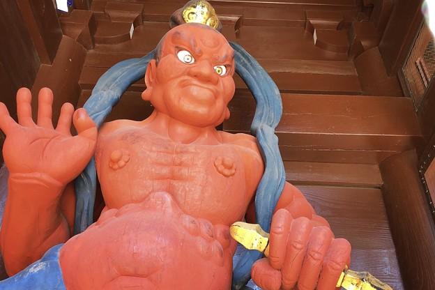 Photos: 吽形像 #湘南 #鎌倉 #寺 #紅葉 #autumnleaves #temple