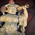 Photos: 妙本寺二天門 阿形像 #湘南 #鎌倉 #kamakura #寺 #temple #紅葉 #autumnleaves #mysky
