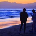 夕暮れの湘南・鵠沼海岸 #湘南 #藤沢 #海 #波 #wave #surfing #sea #サーフィン #mysky