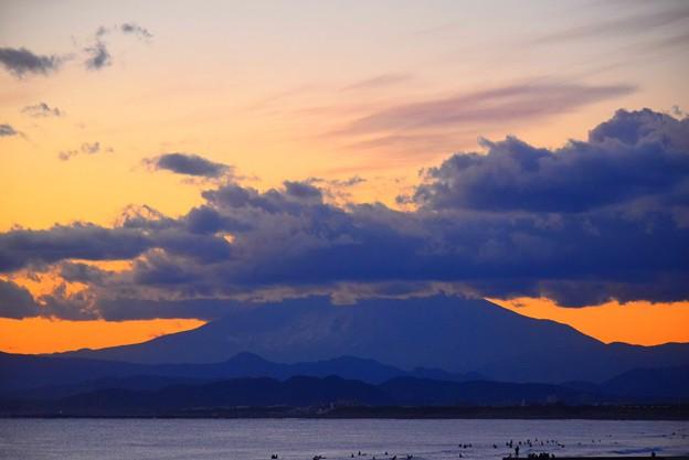 日没後の富士山 #湘南 #藤沢 #海 #波 #wave #surfing #富士山 #mtfuji #fujisan