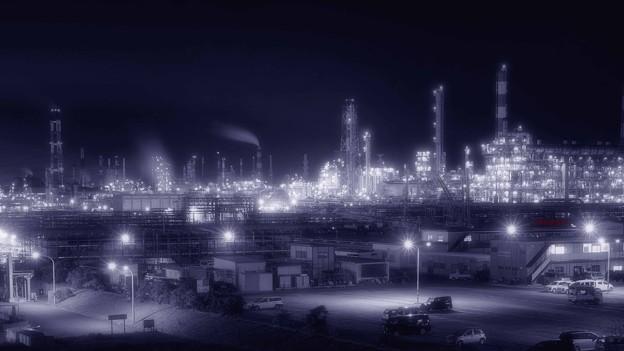 工場萌え~砂山都市緑地より.......