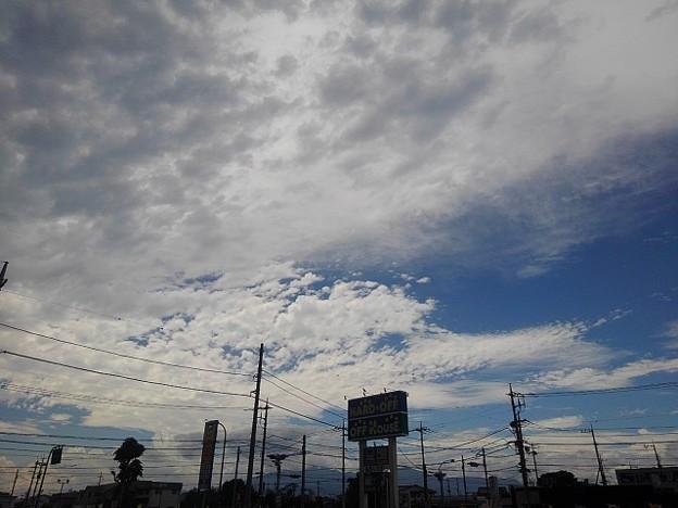 Photos: 駐車場からの空(8月12日)