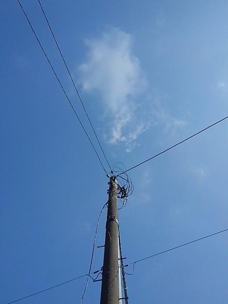 電柱と空(7月19日)