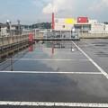 駐車場の水溜まりに映り込み!!