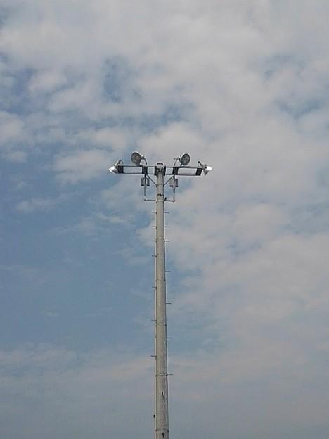 街灯と空(8月10日)