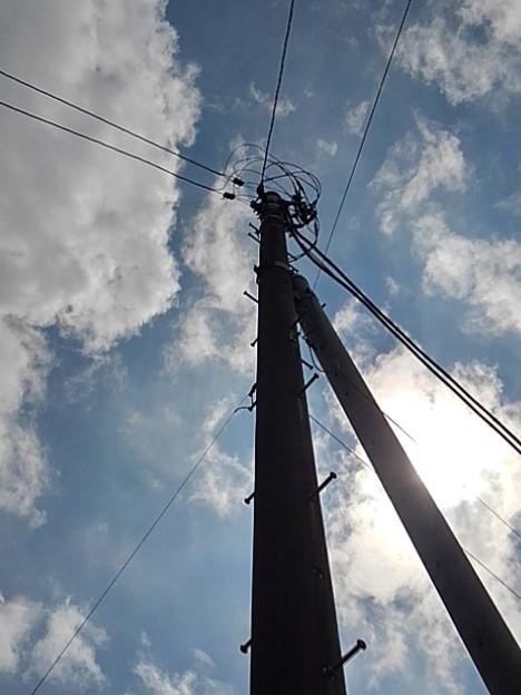 電柱と空(8月28日)