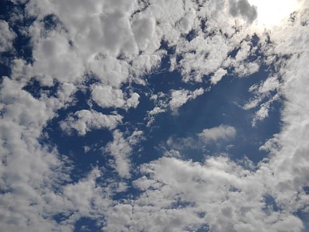 9月8日の鱗雲もある空