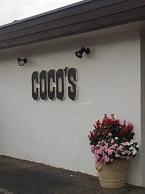 ココスの店の前の花(9月12日)